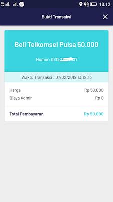 Bukti Pembayaran Pulsa dari Aplikasi Pede Terbaru February 2019