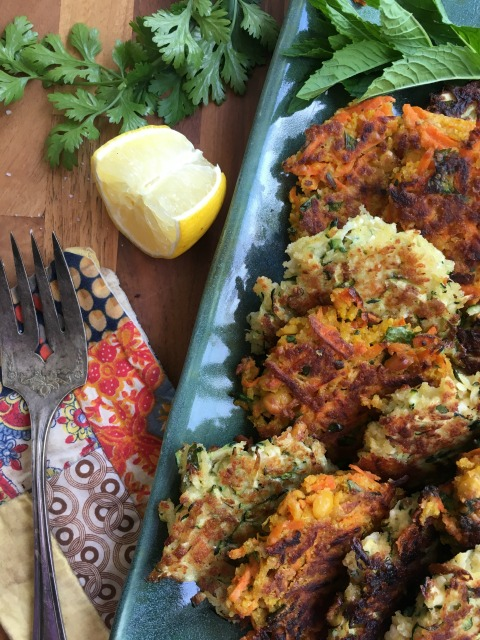 Three favourite vegetable fritter recipes: Using a simple ratio of grated vegetables to eggs and bread crumbs, all sorts of summer and fall vegetables can be made into vegetable fritters. Add flavour with additions like herbs, cheese and spices and you'll have a dozen new ways to eat more vegetables.