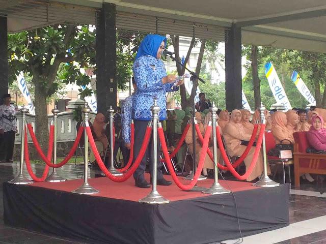 Apel Puncak HKN, HUT PGRI dan Hari Korpri Tingkat Kabupaten Subang