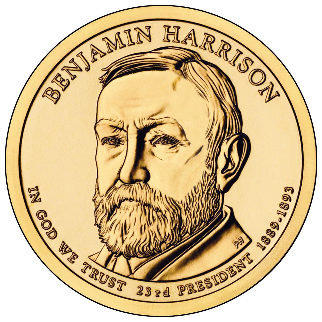 President Benjamin Harrison Thimble