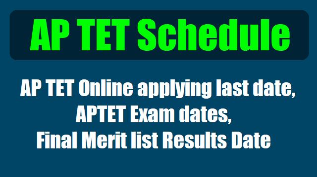 aptet schedule