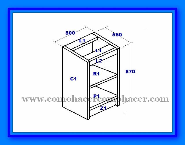 Detalles del plano muebles de cocina mueble bajo