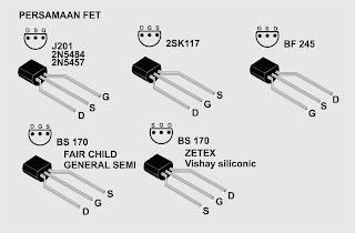 Persamaan transistor dan susunan kaki nya