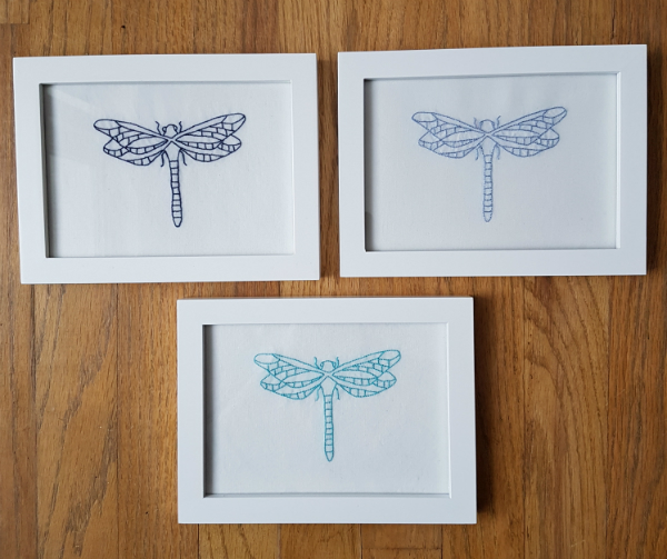 Embroidered dragonflies | DevotedQuilter.blogspot.com