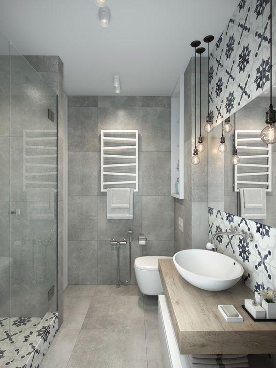 ARREDAMENTO E DINTORNI: bagni con materiali diversi abbinati tra loro
