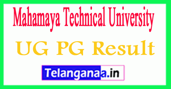 Mahamaya Technical University PG UG Results