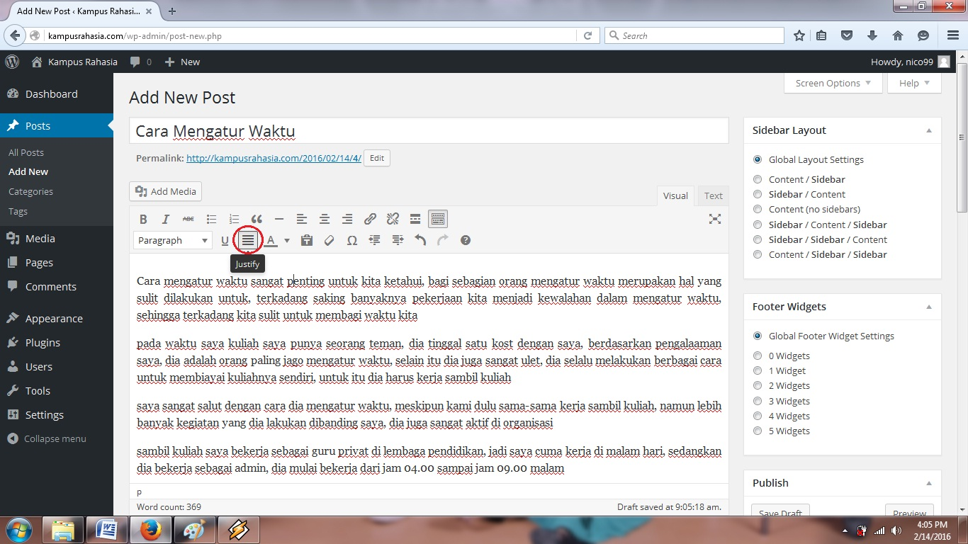 tutorial, cara, membuat, artikel, postingan, website, blog