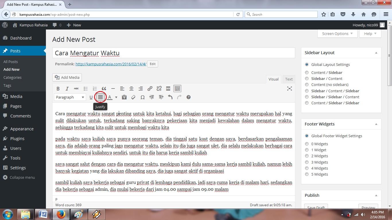 tutorial, cara, membuat, artikel, postingan, website, blog