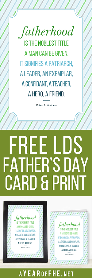 "FREE FATHER'S DAY CARD and PRINT!  This FREE download comes with a 5x7"" print and a Father's Day Card.  Print at home onto cardstock or send to your favorite photolab. Perfect for gift-giving for the amazing man in your life! #fathersday #freeprintable"