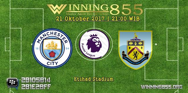 Prediksi Bola Manchester City vs Burnley 21 Oktober 2017