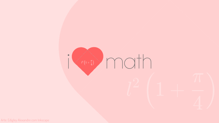 Wallpaper matemático 8: i love Math