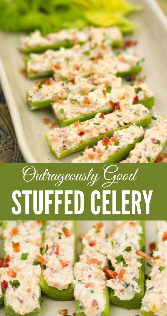 Outrageously Good Stuffed Celery #vegetarian #vegan