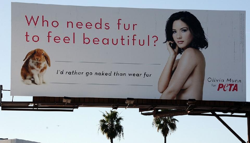 Olivia Munn Peta Billboard Ad Adstasher
