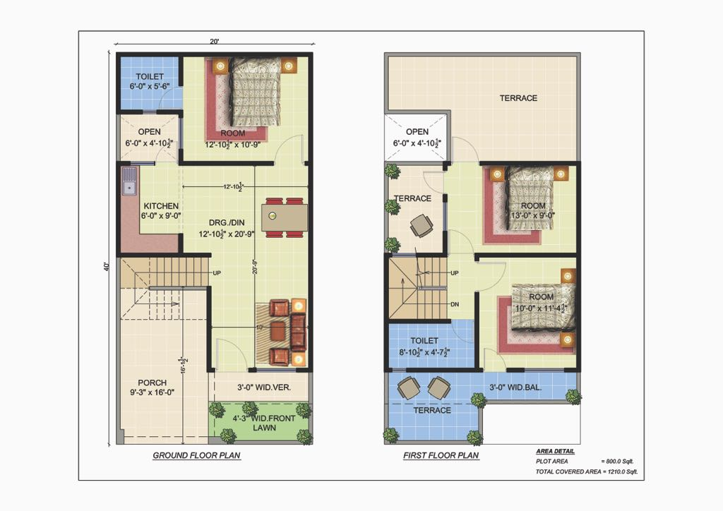 Row House in Lucknow - Floor Plan
