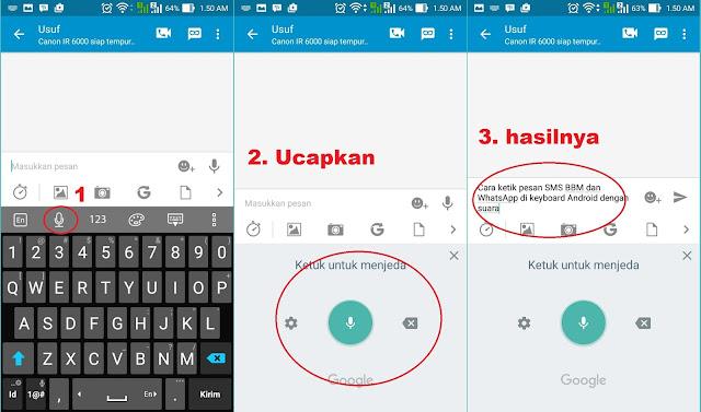Cara Ketik Pesan Sms, BBM, dan WhatsApp Di Android dengan Suara Menjadi Text
