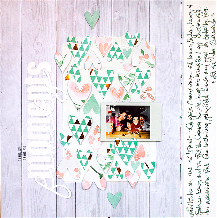 Scrapbooking-Layout, dcwv- copper luxury