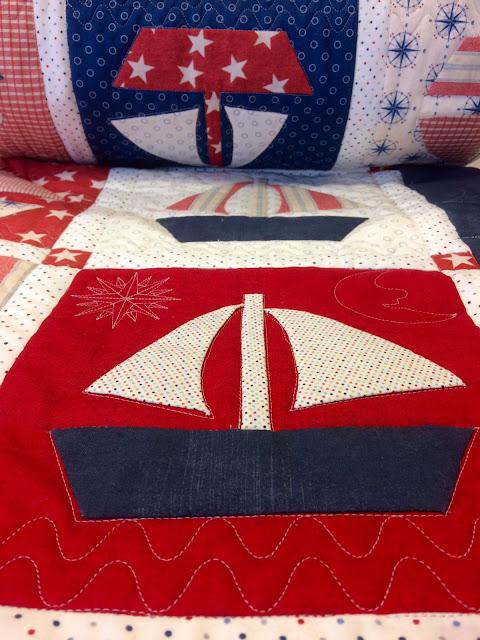 Funda nórdica marinera de Chus en la tertulia del patch
