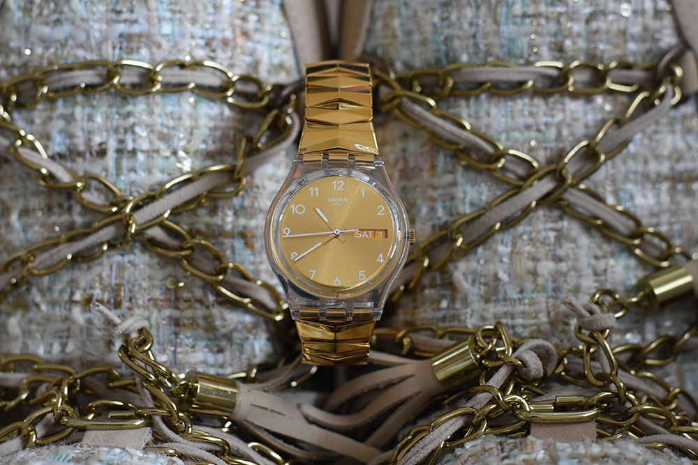 swatch cinturino metallo flessibile