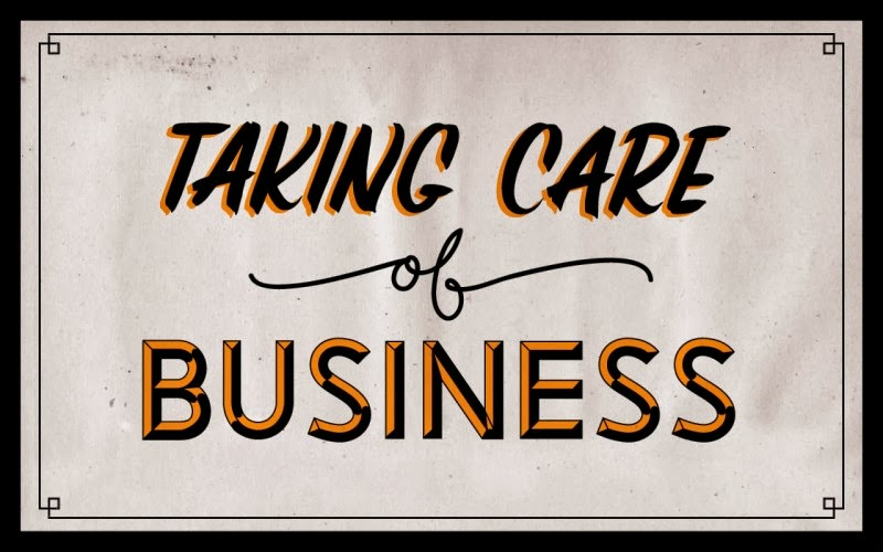 """""""Taking care of business"""" desktop wallpaper 