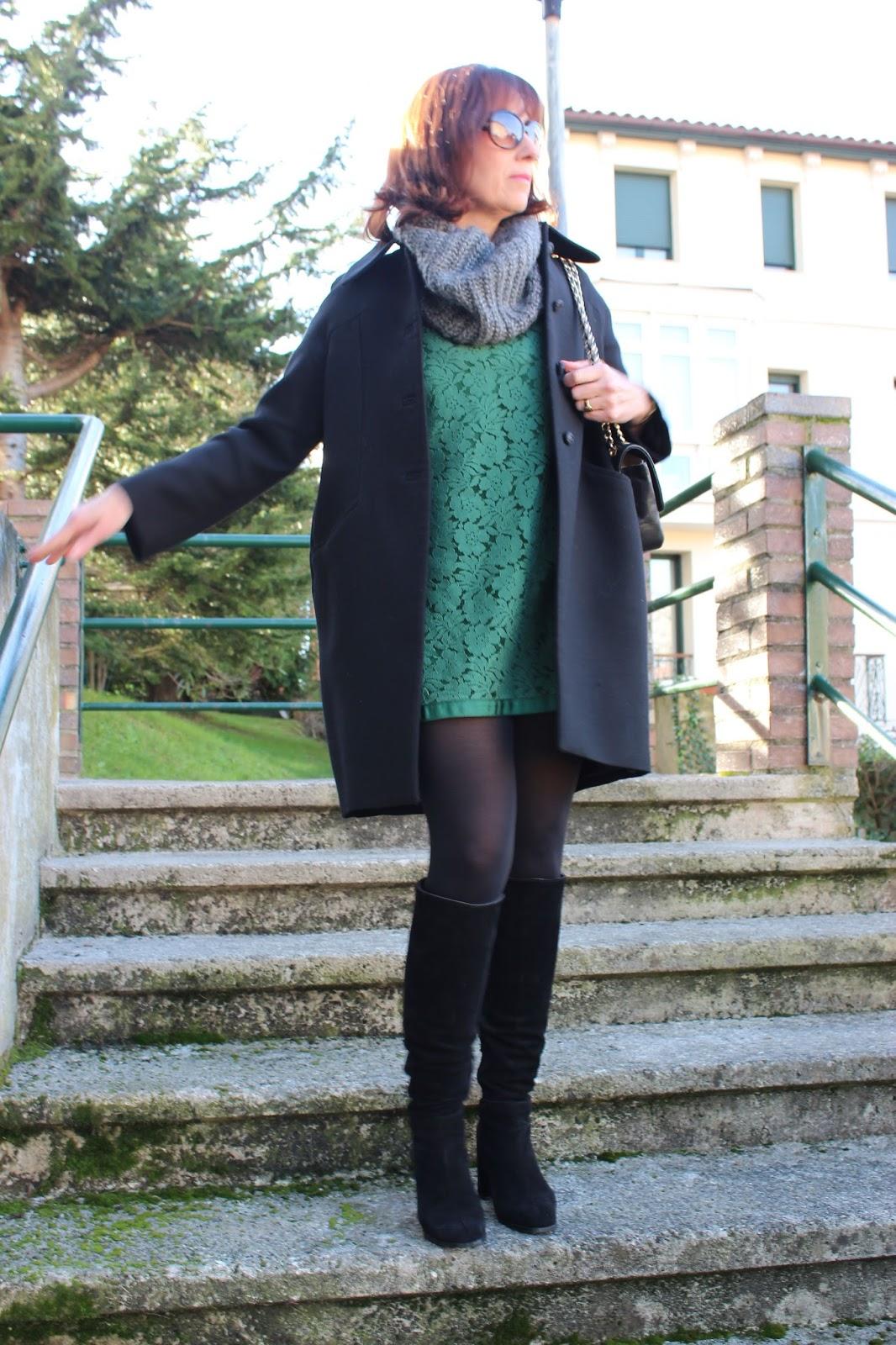 Br jula de estilo mis looks vestido verde de encaje - Brujula de estilo ...