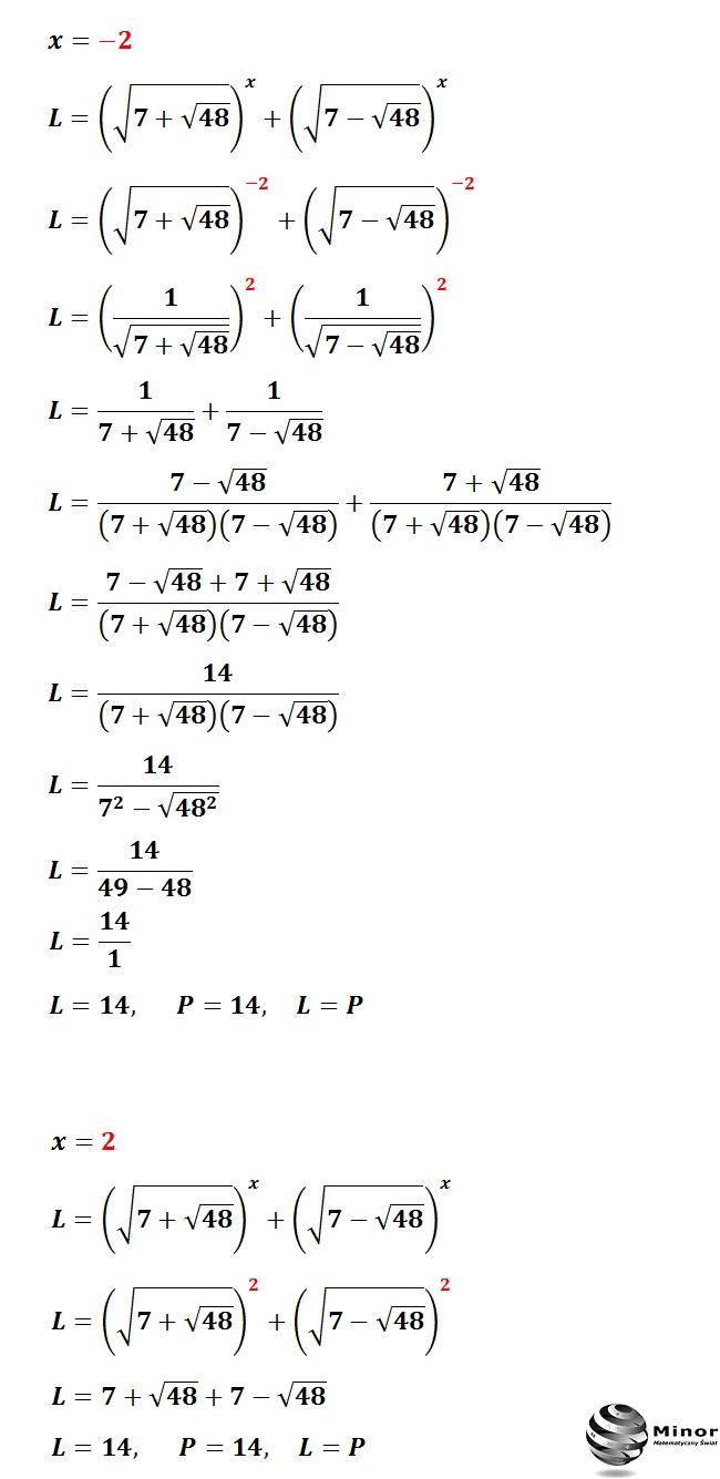 Wyznacz wszystkie możliwe rozwiązania równania wykładniczego.