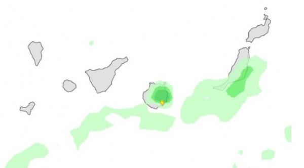 Lluvia para esta tarde en Gran Canaria, 18 septiembre