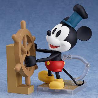 """Figuras: Imágenes del Nendoroid """"Mickey Mouse: 1928 Ver.""""  en color y blanco y negro - Good Smile Company"""
