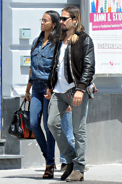 Zoe Saldana married Marco Perego