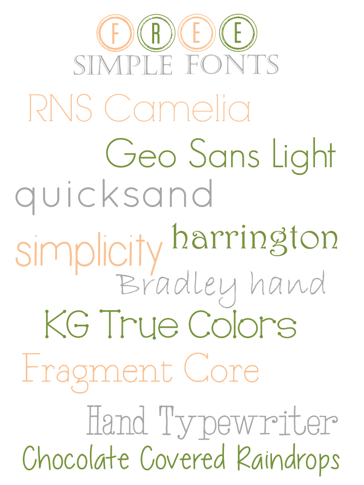 Grits & Giggles: Free Font February: Simple Fonts