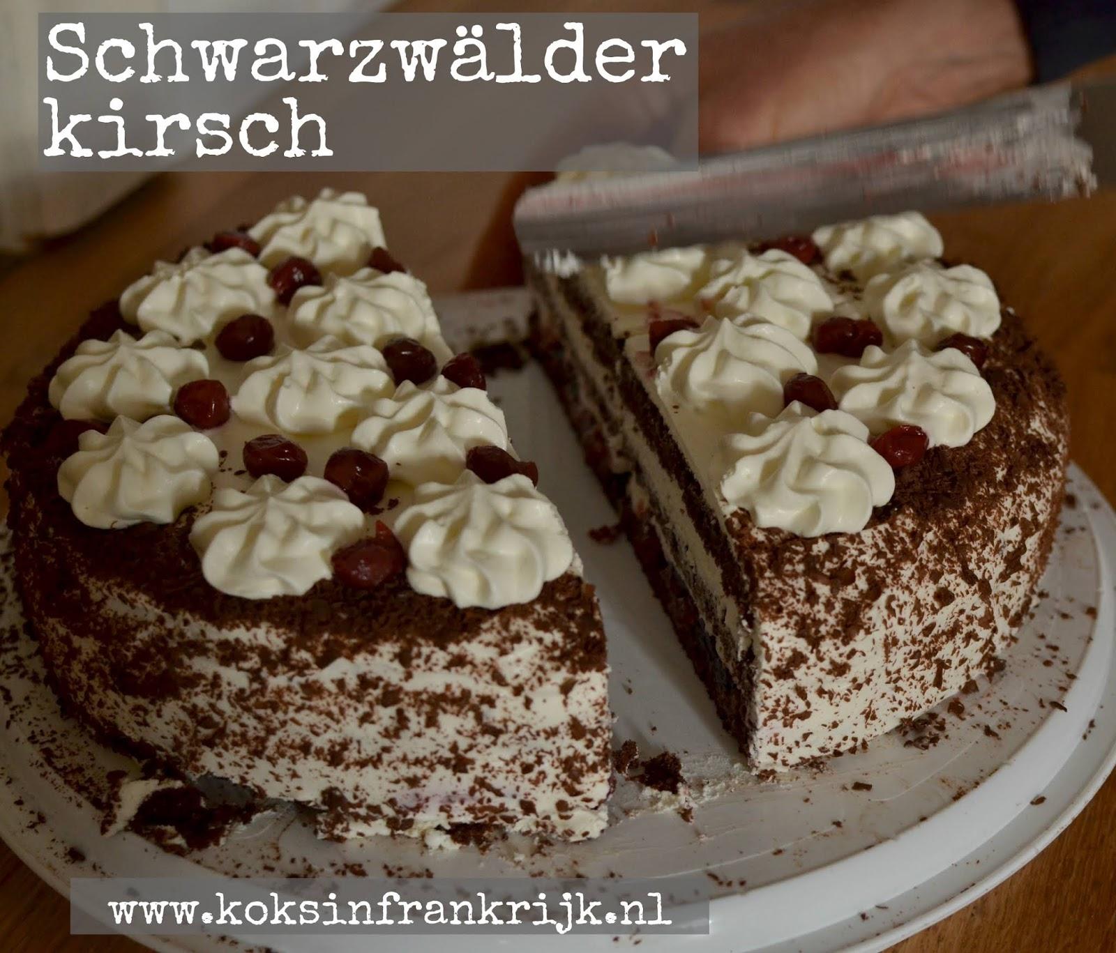 Recept voor schwarzwälder kirsch taart - fôret-noire