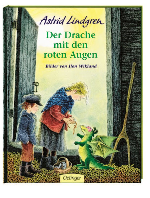 """Das Bücherboot: Kinderbücher vom Drachen steigen lassen (+ Verlosung). Dabei stelle ich auf Küstenkidsunterwegs auch ein weitgehend unbekanntes Buch von Astrid Lindgren und Ilon Wikland vor: """"Der Drache mit den roten Augen""""."""
