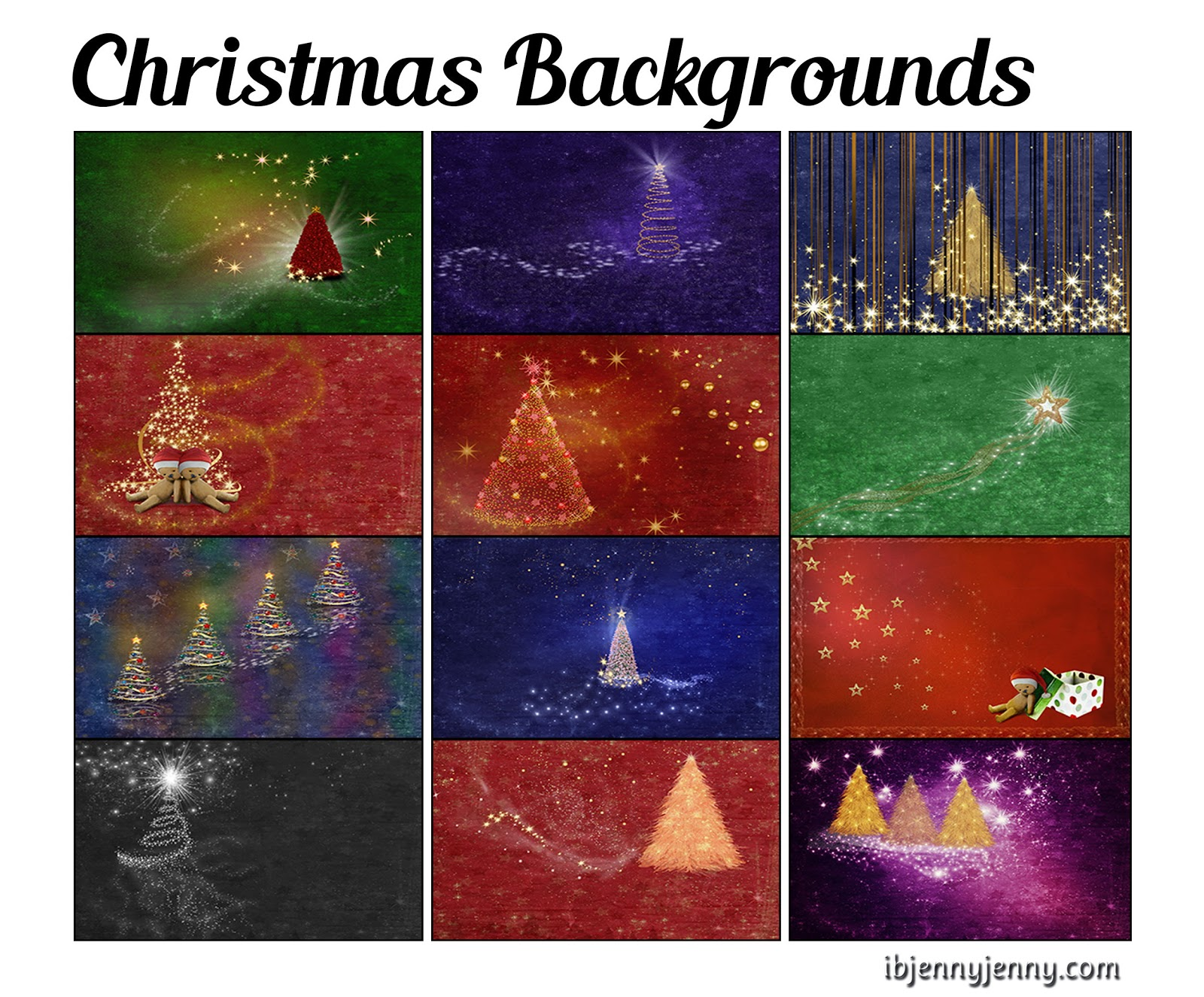 Christmas Backgrounds by ibjennyjenny
