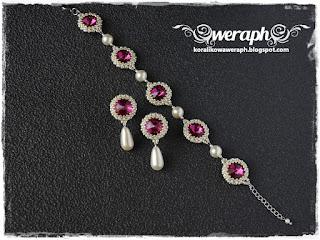 http://koralikowaweraph.blogspot.com/2018/07/komplet-fuchsia-i-pery.html