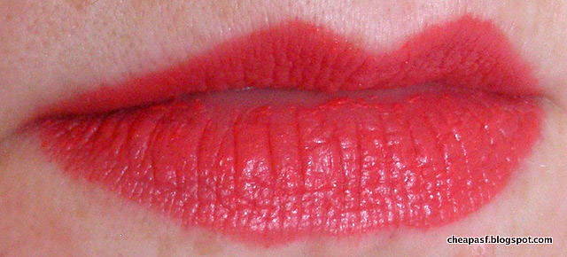 lipstick over e.l.f. Lip Lock Pencil