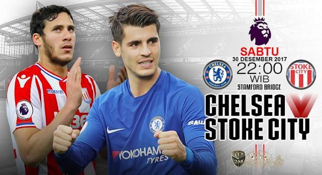 Prediksi Bola : Chelsea Vs Stoke City , Sabtu 30 Desember 2017 Pukul 22.00 WIB