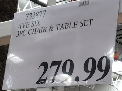 Costco 732877 - Deal for the Avenue Six 3 Piece Chair and Accent Table Set at Costco