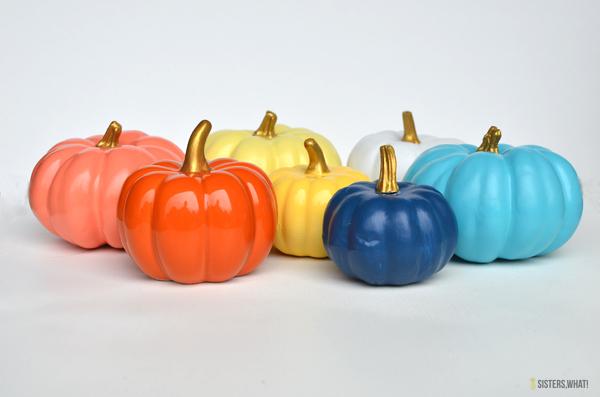 diy colorful pumpkins