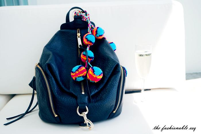 Cute leather backpack