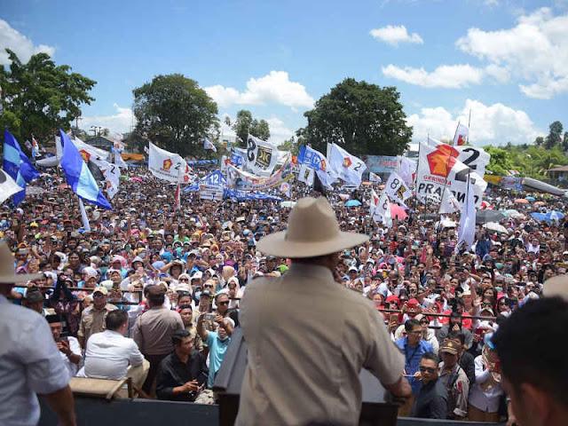 Prabowo Subianto Kampanye di Manado, Ajak Masyarakat Jaga Persatuan