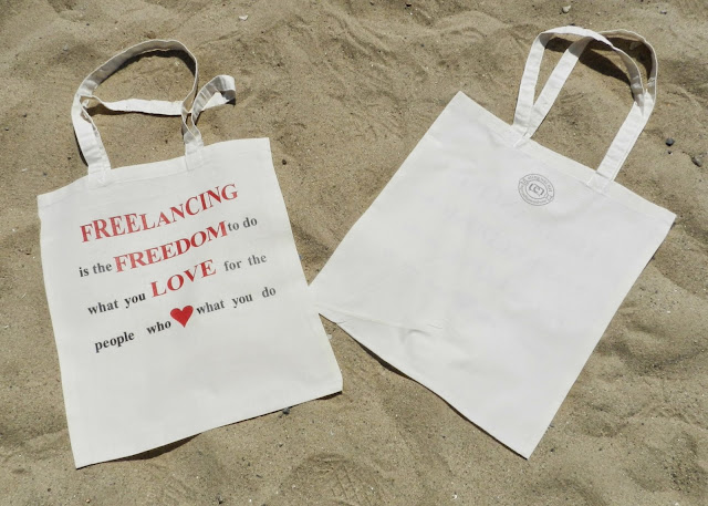 #SpreadTheWordWear Freelancing is Freedom Red Tote