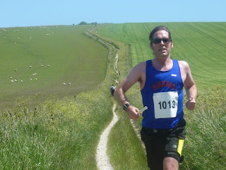 Dorian decending to the river Adur on leg 7