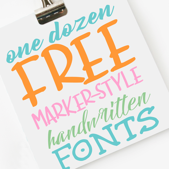 One Dozen FREE Handwritten Fonts for Crafts and Printing Projects