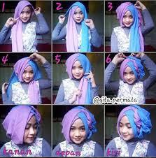 Tutorial Hijab Segi Empat Pesta Pashmina
