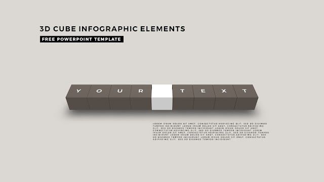 3D Cube Infographic Elements for Free PowerPoint Template Design Slide 5