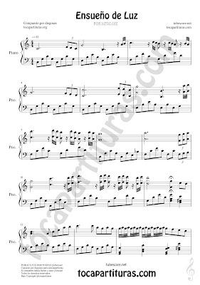 1 Partitura de Ensueño de Luz para Piano Composición por diegosax partituras