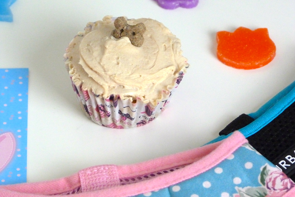 an image of homemade peanut butter cupcakes