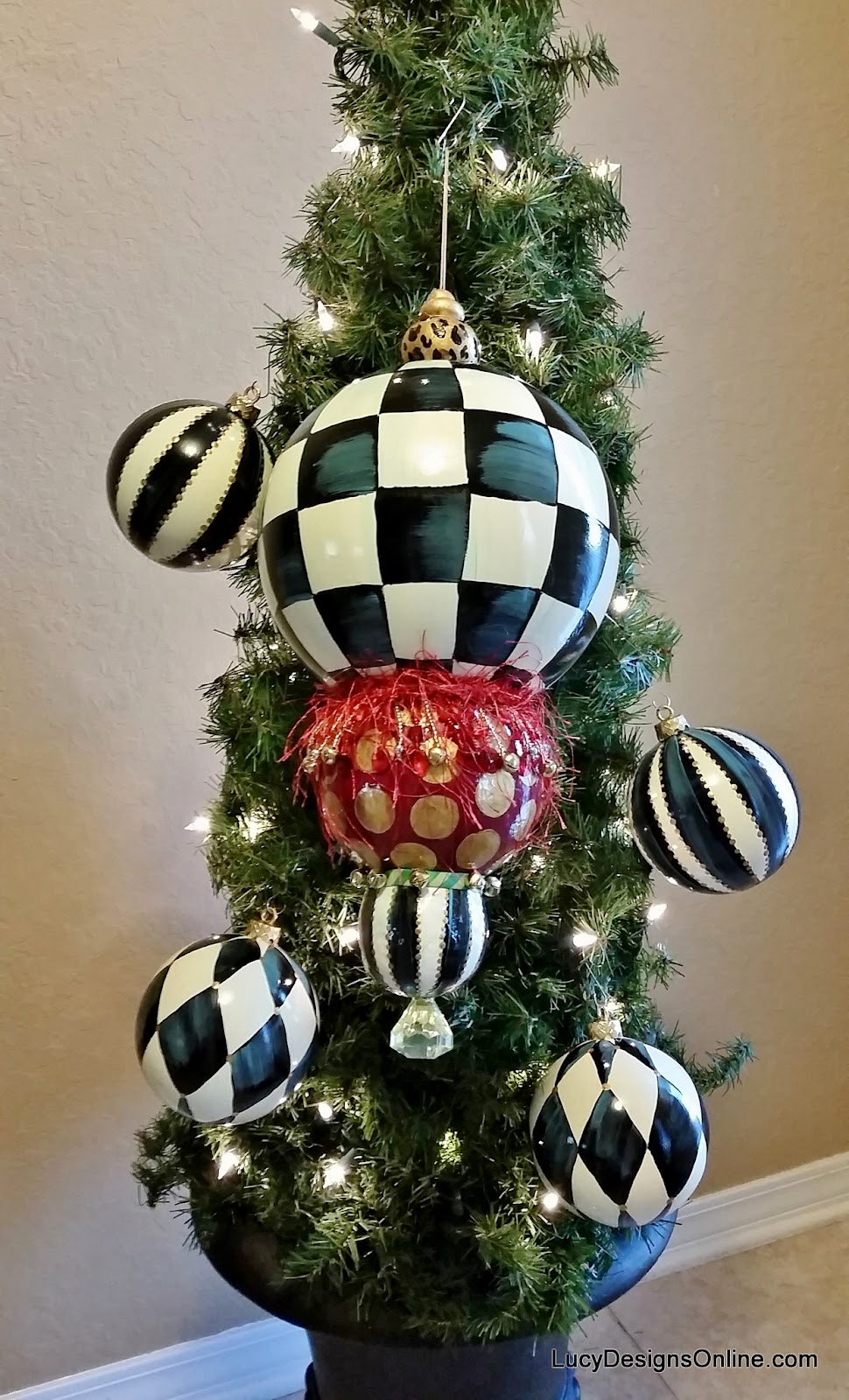 hand painted giant kissing ball ornament