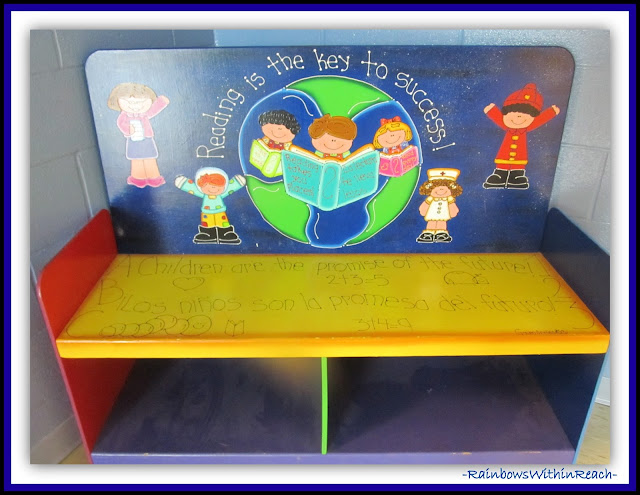 Classroom Bench (Classroom Decor RoundUP at RainbowsWithinReach)