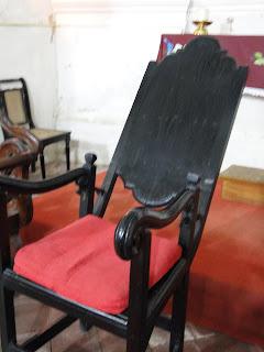Cadeira reclinável da Igreja de Nossa Senhora do Rosário dos Homens Pretoss
