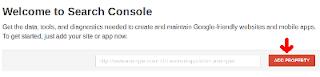 Buat Properti Akun Google Webmaster